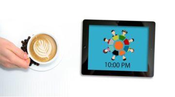Bild von Kaffeetasse und Tablet